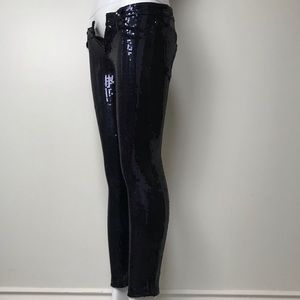My vintage Adriano Goldschmied blue sequin jeans
